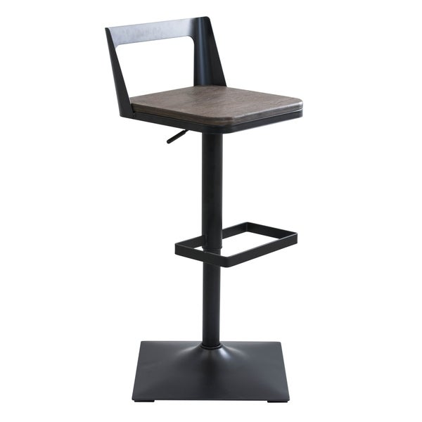 Carbon Loft Goddard Industrial Black Adjustable Barstool