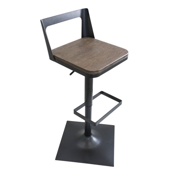 Lumisource Samurai Industrial Adjustable Barstool Free