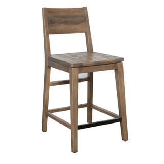 Kosas Home Hand Crafted Oscar Natural Recovered Shipping Pallets 24-inch Counter Stool
