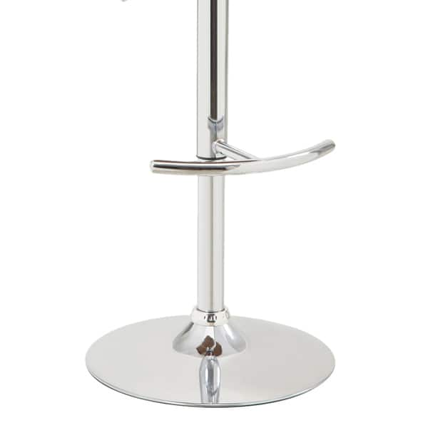 Shop Chrome Finished Barstool with Walnut Veneer - Free