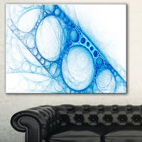 Designart 'Blue Metal Construction' Abstract Digital Art Canvas Print
