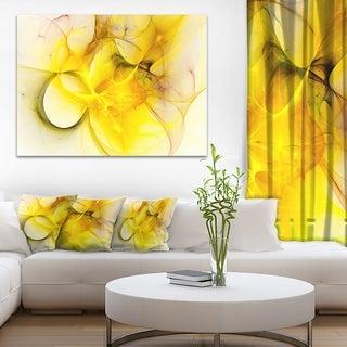 Designart U0027Light Yellow Nebula Staru0027 Abstract Digital Art Canvas Print (3  Options Available