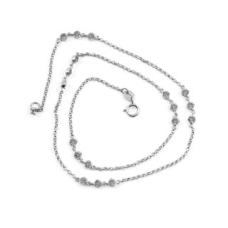 Collette Z Sterling Silver Cubic Zirconia Accent 36 Inch Necklace - White