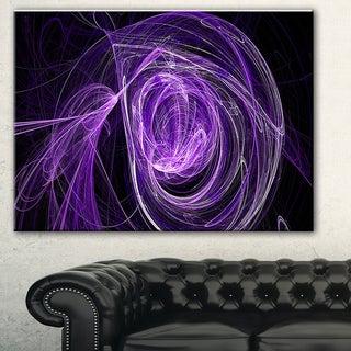 Designart 'Purple Ball of Yarn' Abstract Digital Art Canvas Print