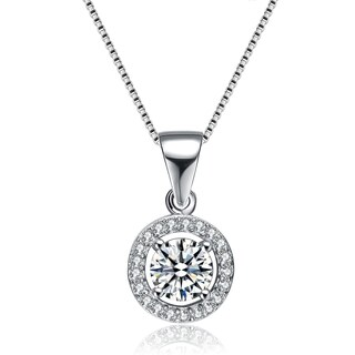 Collette Z Sterling Silver Round Cut Cubic Zirconia Pendant Necklace|https://ak1.ostkcdn.com/images/products/11621422/P18557013.jpg?_ostk_perf_=percv&impolicy=medium