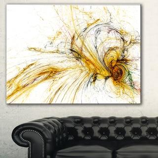Designart 'Yellow Spiral Galaxy' Abstract Digital Art Canvas Print