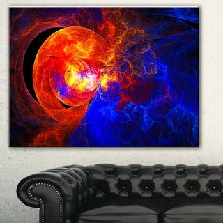 Designart 'Sunrise on a Distant Planet' Abstract Digital Art Canvas Print