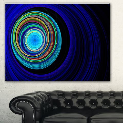 Designart 'Endless Tunnel Blue Ripples' Abstract Digital Art Canvas Print