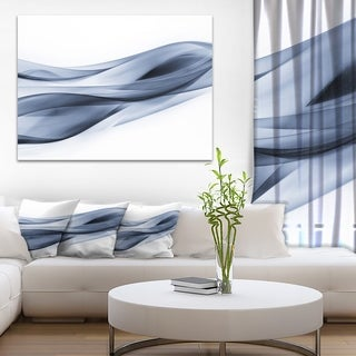 Designart Glittering Blue Pattern Abstract Digital Art Canvas Print