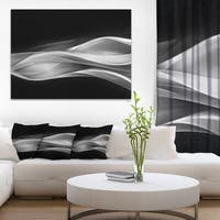 Designart 'Glittering Silver Pattern' Abstract Digital Art Canvas Print