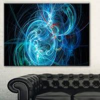 Designart 'Blue Ball of Yarn' Abstract Digital Art Canvas Print