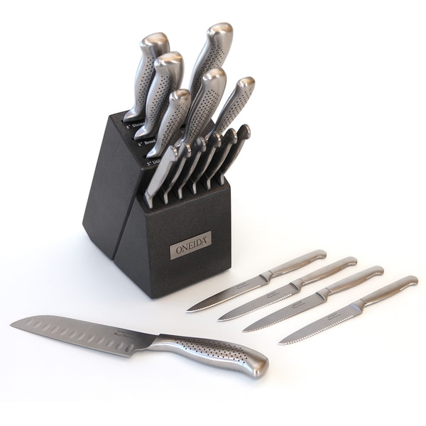 Shop Oneida Stainless Steel 17 Piece Cutlery Block Set