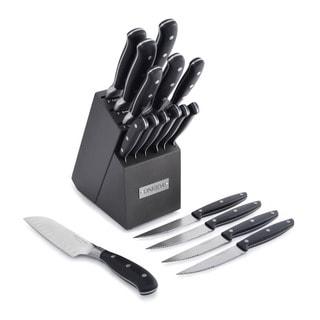 Oneida Triple Rivet Cutlery Block Set with 4 Bonus Steak Knives (17 Piece)
