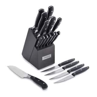 Oneida Triple Rivet Cutlery Block Set with 4 Bonus Steak Knives (17 Piece)|https://ak1.ostkcdn.com/images/products/11621612/P18557058.jpg?impolicy=medium