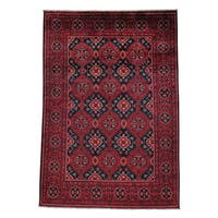 Afghan Khamyab Vegetable Dyes Hand-knotted Oriental Rug (4'10 x 7')