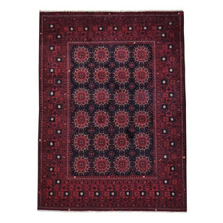 Afghan Khamyab Vegetable Dyes Hand-knotted Oriental Rug (5' x 6'7)
