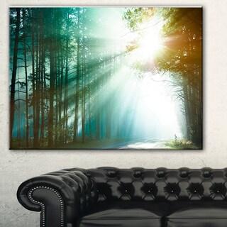 Designart 'Magic Blue Forest' Landscape Photo Canvas Print