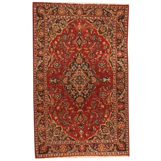 Herat Oriental Persian Hand-knotted 1960s Semi-antique Kashan Wool Rug (3'6 x 5'7)