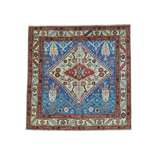 Square Tribal Northwest Persian Revival Hand-knotted Rug (5' x 5')