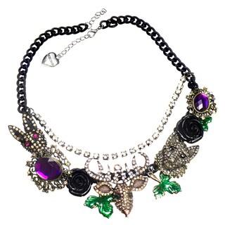 Brass Dark Fantasy Style Statement Necklace