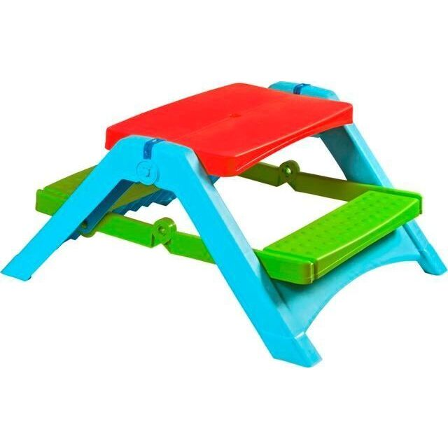 Pal Play Folding Picnic Table (Red/Green/Blue), Multi (ABS)