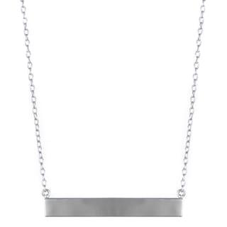 Brass Silvertone Bar Necklace