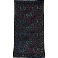 "Wide Persian Bakhtiari Overdyed Worn Down Runner Rug (5' x 9'6) - 5'0"" x 9'6"""