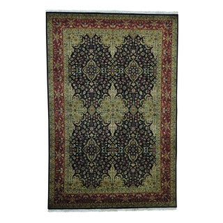 Kashan Revival 300 KPSI New Zealand Wool Hand-knotted Rug (6' x 9')
