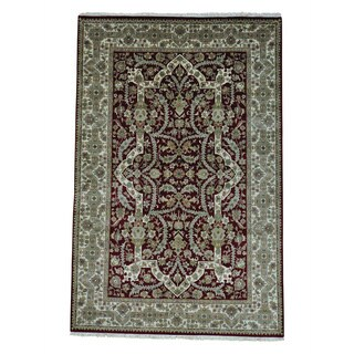 Hand-knotted 300 KPSI Tabriz Revival New Zealand Wool Rug (6' x 9'2)