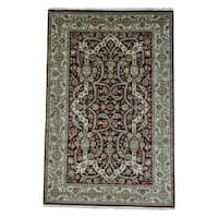 """Hand-knotted 300 KPSI Tabriz Revival New Zealand Wool Rug - 6'0"""" x 9'2"""""""