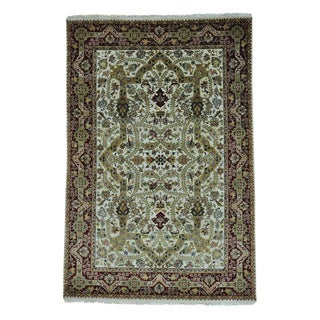 Tabriz Revival New Zealand Wool 300 KPSI Hand-knotted Rug (6' x 9')