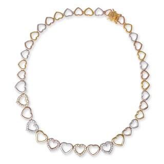 Collette Z Multicolor Heart Wreath Necklace