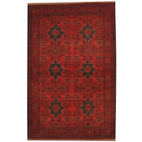 Herat Oriental Afghan Hand-knotted Khal Mohammadi Wool Rug (4'4 x 6'7) - 4'4 x 6'7
