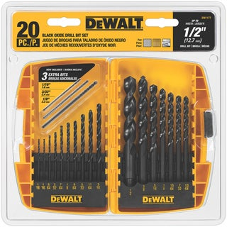 DeWalt  High Speed Steel  1/16 in. Dia. Drill Bit Set  20 pc.