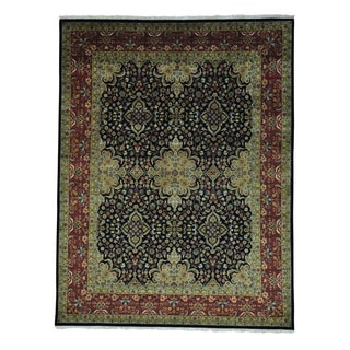 Kashan Revival 300 KPSI New Zealand Wool Handmade Rug (7'10 x 10'2)