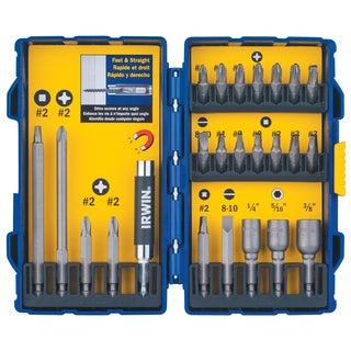 Irwin 3057015 Steel Screwdriver Bit Set 24-count