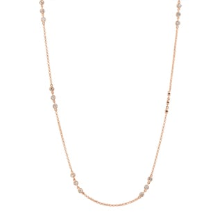 Collette Z Rose Plated Sterling Silver Cubic Zirconia Accent Necklace