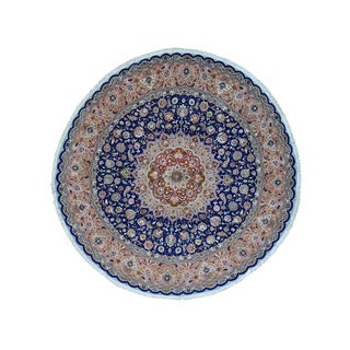 Persian Tabriz Pure Wool Hand-knotted Oriental Rug (10' Round)