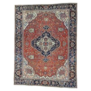 Antique Persian Serapi Heriz Oversize Even Wear Rug (11'2 x 15'2)
