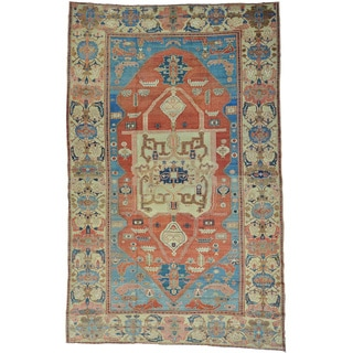 Antique Persian Bakshaish Oversize Hand-knotted Rug (11'1 x 17'7)