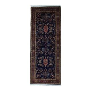 Sarouk 300 KPSI New Zealand Wool Handspun Runner Rug (2'5 x 6'3)
