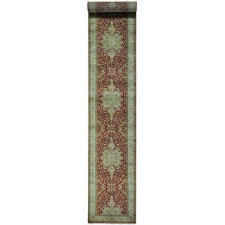 XL Kashan Revival New Zealand Wool Oriental Runner Rug (2'6 x 15'10)
