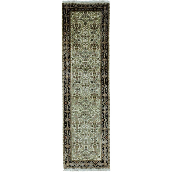 New Zealand Wool Tabriz Revival 300 KPSI Runner Rug (2'10 x 10')