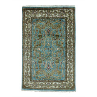 Hand-knotted New Zealand Wool Tabriz Revival 300 KPSI Rug (4' x 6')