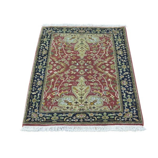 Kashan Revival 300 KPSI New Zealand Wool Hand-knotted Rug (2' x 3')