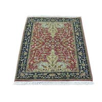 """Kashan Revival 300 KPSI New Zealand Wool Hand-knotted Rug - 2'0"""" x 3'0"""""""