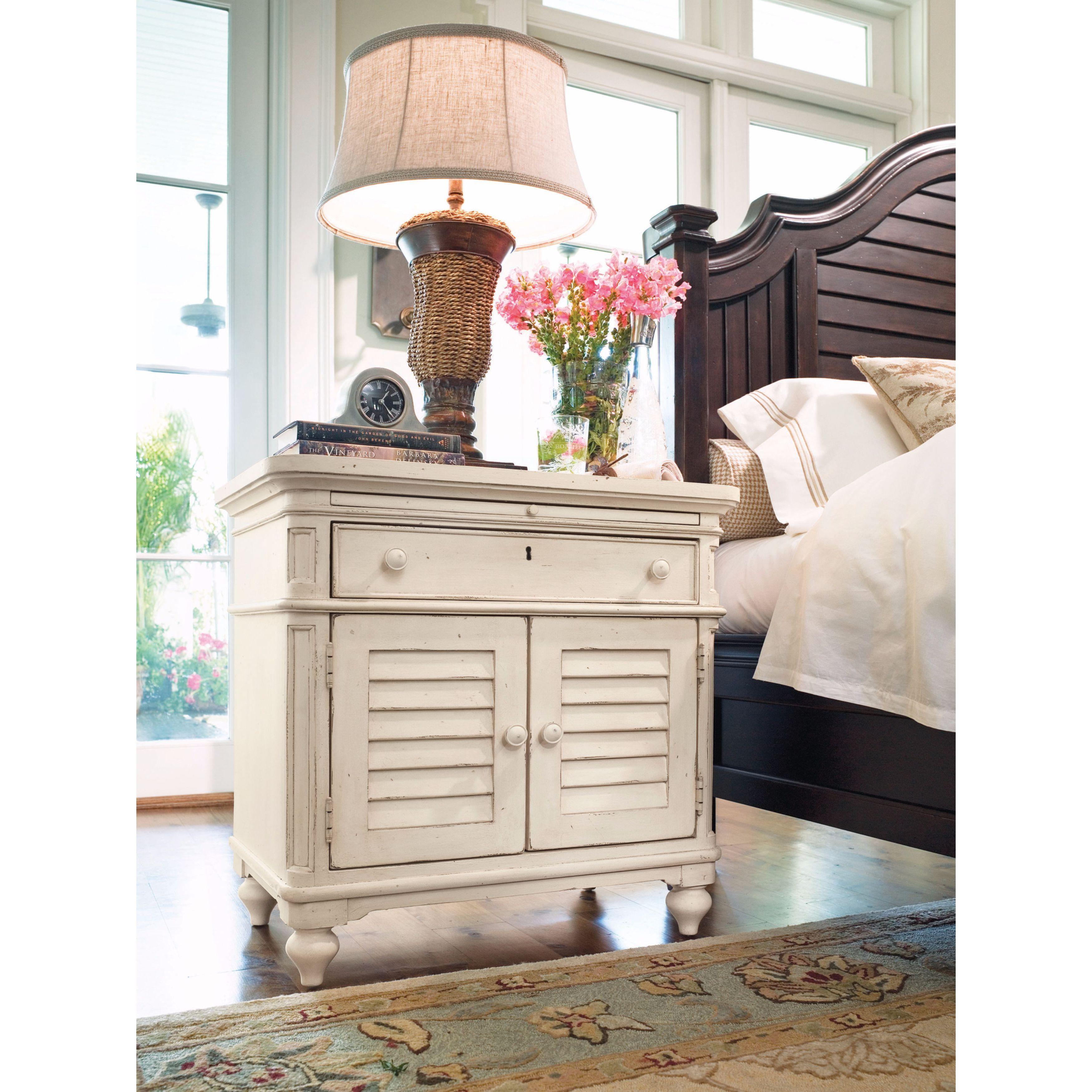Shop Black Friday Deals On Paula Deen Home Door Nightstand In Linen Finish Overstock 11622217