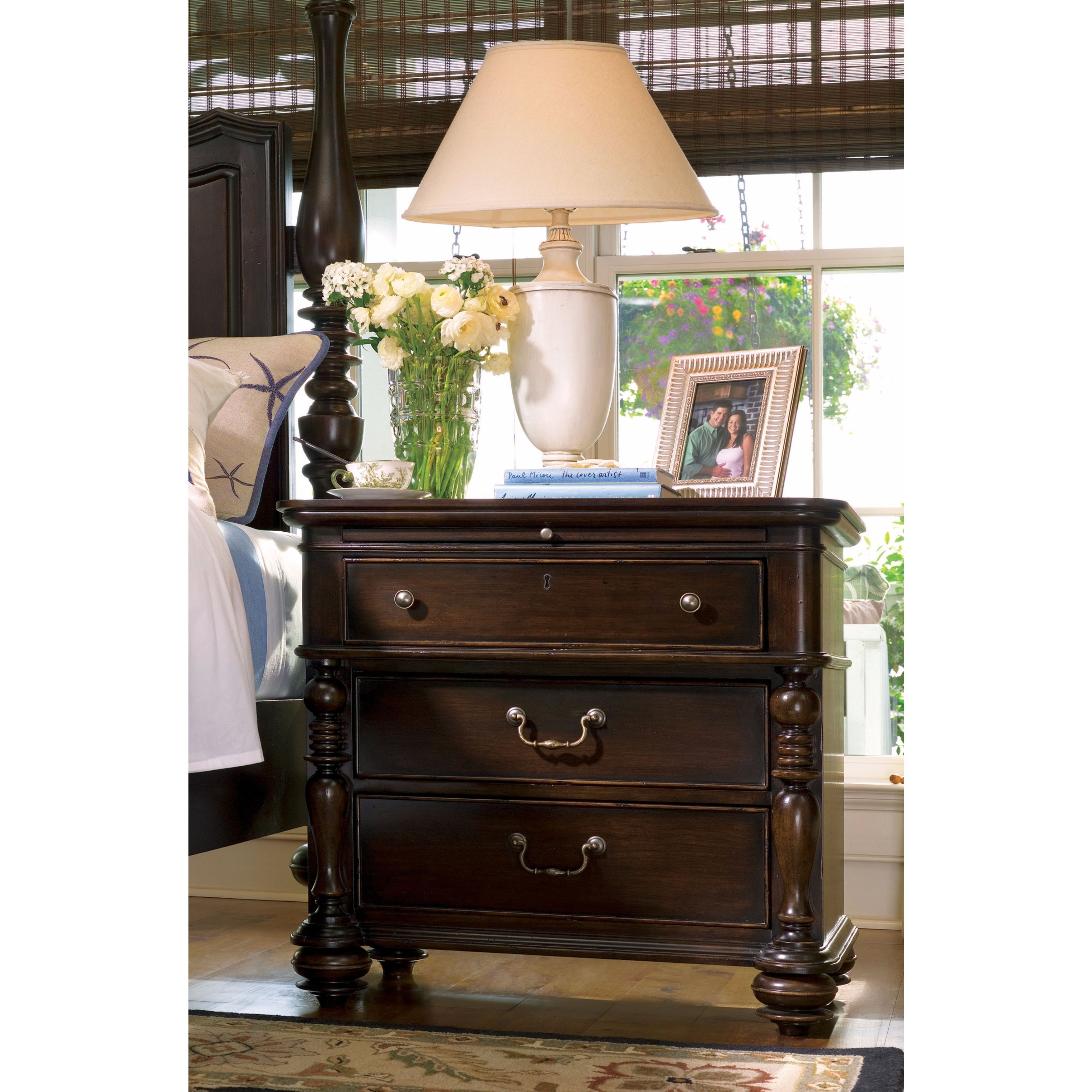 Image of: Shop Black Friday Deals On Paula Deen Home Drawer Nightstand In Tobacco Finish Overstock 11622225