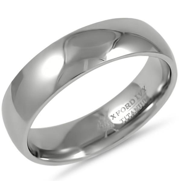polished rings ring dome titanium comfort band fit plain dp high wedding