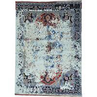 """Broken Design Heriz Pure Wool Hand-knotted Oriental Rug - 9'9"""" x 13'8"""""""